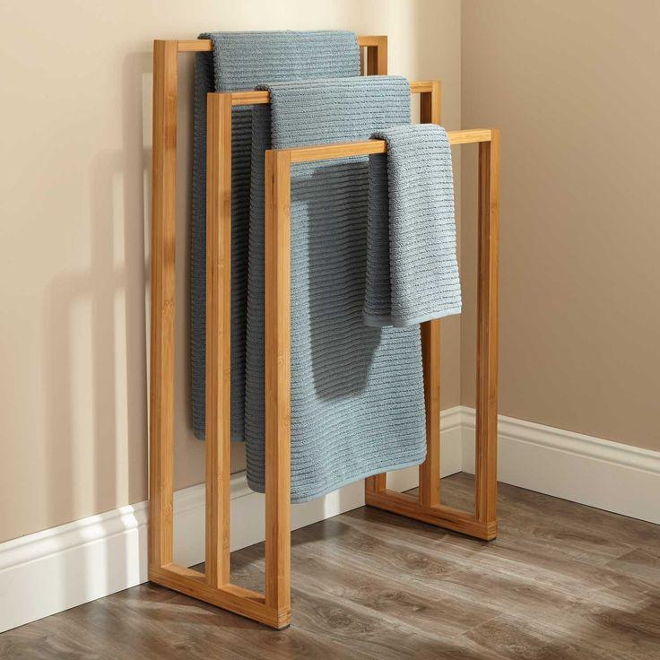 Cinthea Bamboo Towel Rack
