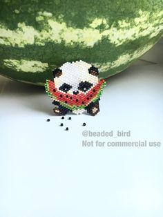 Панда из бисера #бисероплетение #miyuki #мозаичное плетение