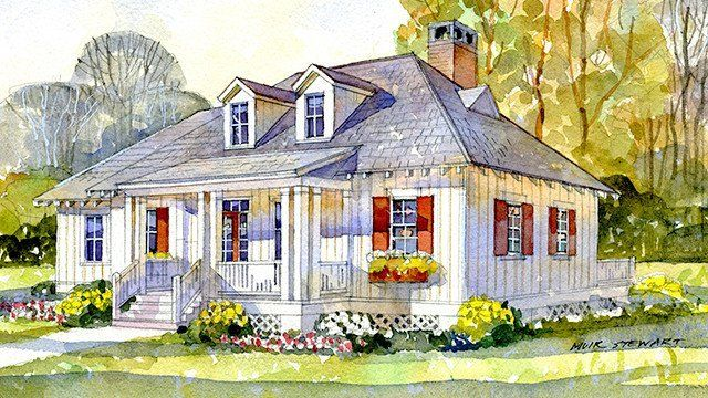 The Best House Plans Of 2017: St. George Cottage, Plan #1906