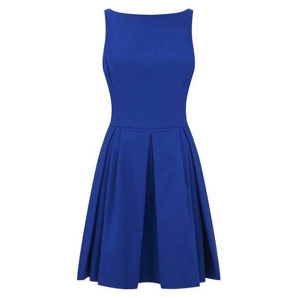 Polo Ralph Lauren Women's Babette Dress - Mayan Blue ($175) ❤ liked on Polyvore featuring dresses, short dresses, blue, blue mini dress, polo dress, mini dress and short blue dresses