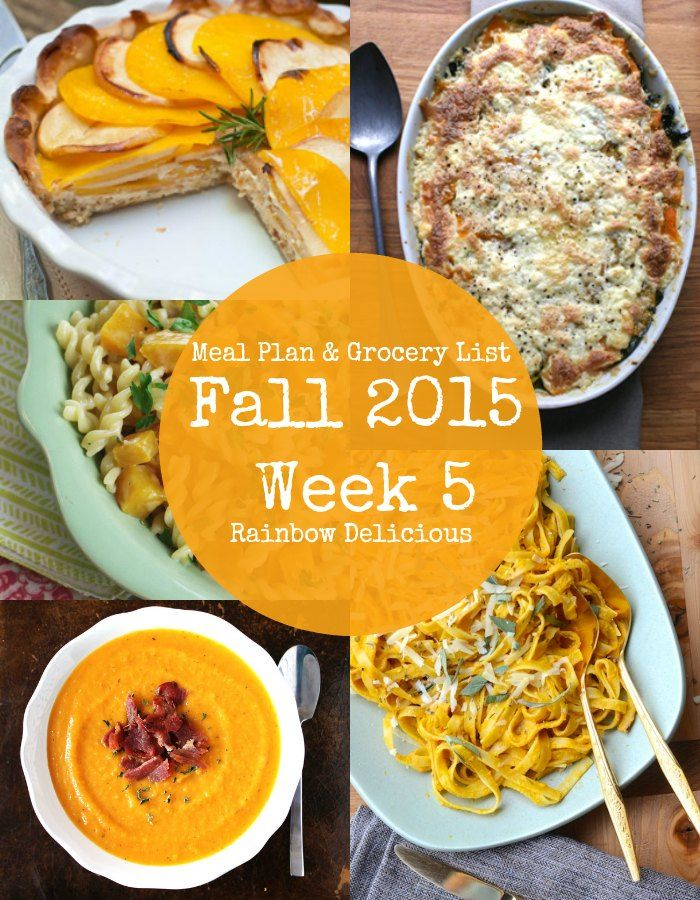 Meal Plan: Fall 2015 Week 5 {Orange Week | Meals, Weekly ...