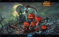 Vacances Halloween  Citrouille Elfe Epée Weapon World Of Warcraft Art Fond d'écran