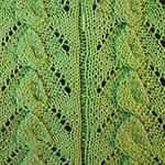 вязание спицами узоры из листьев Вьюнок