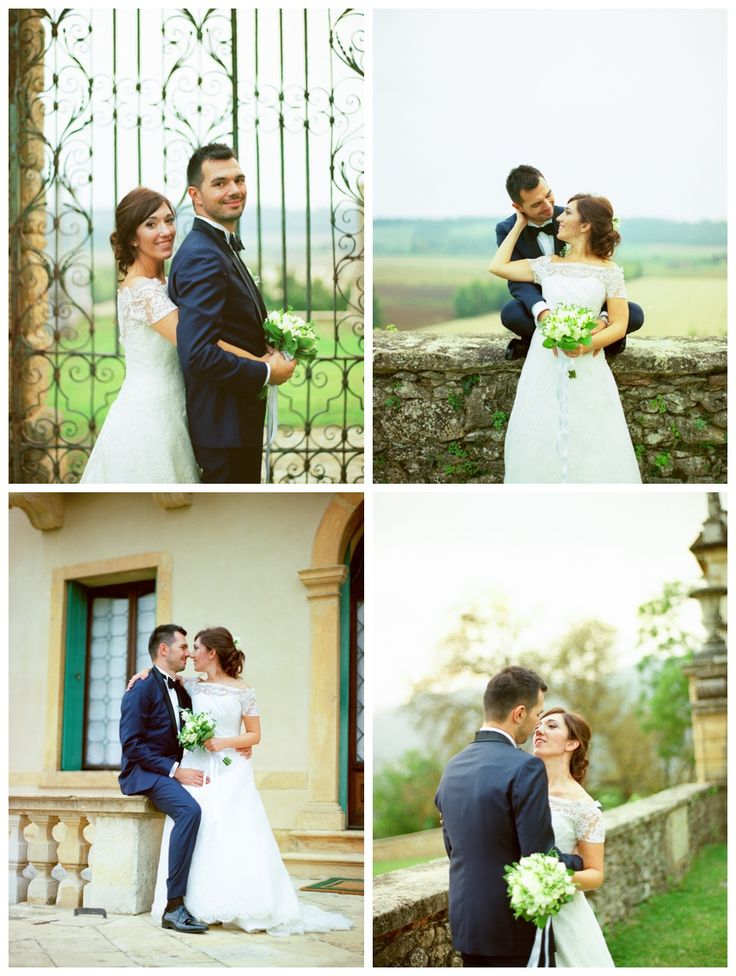 Wedding Dress by Raimon Bundo and tuxedo by Fragomeni Atelier. Fresia bouquet. Villa Montruglio in Mossano, Vicenza, Veneto