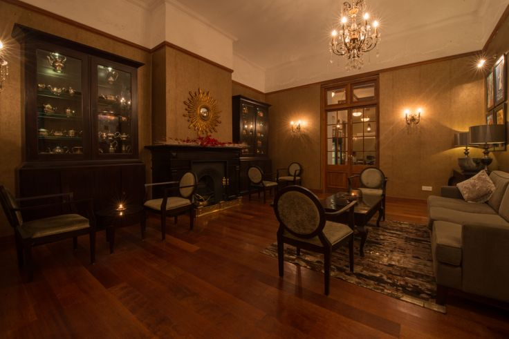 The Tea Lounge, complete with antique silverware imported from UK, by The Silkroad.