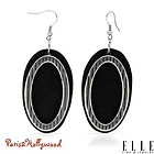 Earrings, original brand name ELLE, 72 mm, BLACK WOOD, brandnew, fish hook, USA - Black, Brand, BrandNew, Earrings., ELLE, Fish, Hook, Name, ORIGINAL, Wood - http://designerjewelrygalleria.com/elle-jewelry/earrings-original-brand-name-elle-72-mm-black-wood-brandnew-fish-hook-usa/