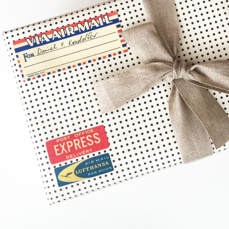 Birthday express | Polka dots & vintage air mail stickers | MR PORTER surprise