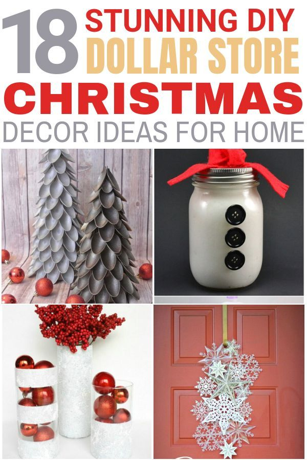 18 Stunning Dollar Store DIY Christmas decoration ideas For Any Budget