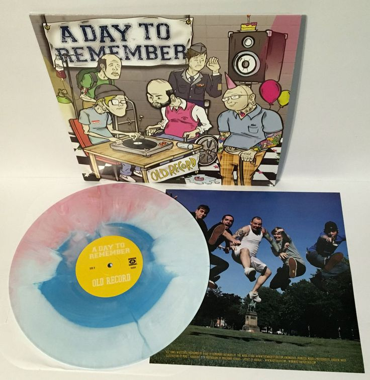 A DAY TO REMEMBER old record Lp MULTI-COLORED VINYL Record #punkEmoPunkNewWave