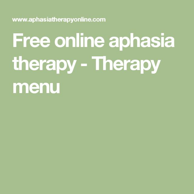 Free online aphasia therapy - Therapy menu                                                                                                                                                                                 More
