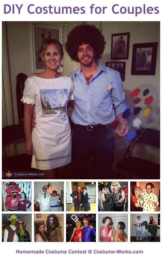 Homemade Costumes for Couples - a lot of homemade costume ideas!.....So many good ideas! Luke and I have never done a couple costume before!