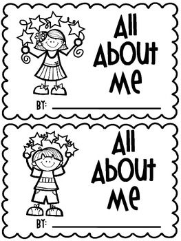 All About Me BookThis book contains the following pages in girl and boy format:NameWhat I like to eatMy Best Friend My Favorite colorFamilyWhere I live Where I go to schoolWhat I like to playWhat I look likeHow old I amWhen I grow upEach page has a stem sentence for students to complete and a place to draw a picture to go with each sentence.