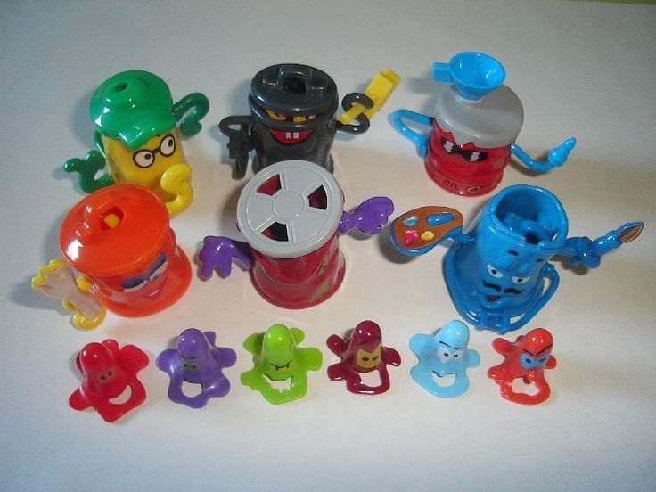 Kinder Surprise Set Garbage Cans Trash Cans Toys Figures Collectibles | eBay