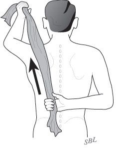 Shoulder Arthritis / Rotator Cuff Tears: causes of shoulder pain: Stretching - a key to recovery in shoulder arthritis, rotator cuff disorders, frozen shoulder