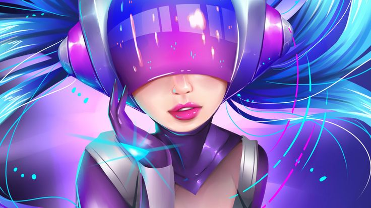 Vídeo Game League Of Legends  Sona (League Of Legends) DJ Sona Helmet Papel de…