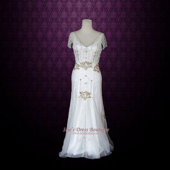 Boho Wedding Dress  Vintage Inspired Wedding Dress  by ieie