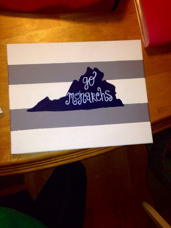 "Old Dominion University ""Go Monarchs"" Canvas on Etsy, $23.00"