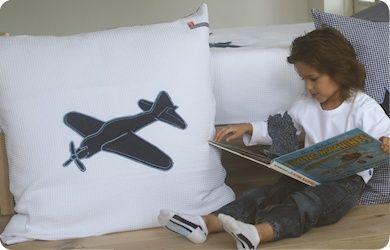 Loungekussen Vliegtuig. Heerlijk groot kussen.