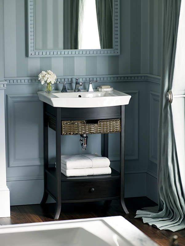Pictures In Gallery Archer petite vanity Archer sink Yearning for an elegant furnished look in a small space The Archer petite vanity works in a variety of design styles