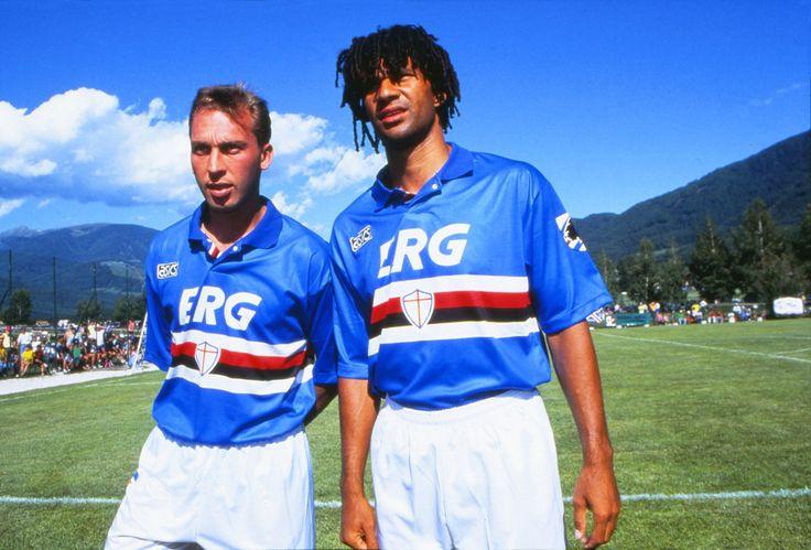 David Platt et Ruud Gullit (Sampdoria Genes)