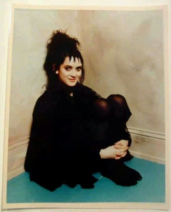 Winona Ryder as Lydia Deetz in Beetlejuice. I just found out she was also Elsa from Frankenweenie and Kim from Edward Scissorhands.