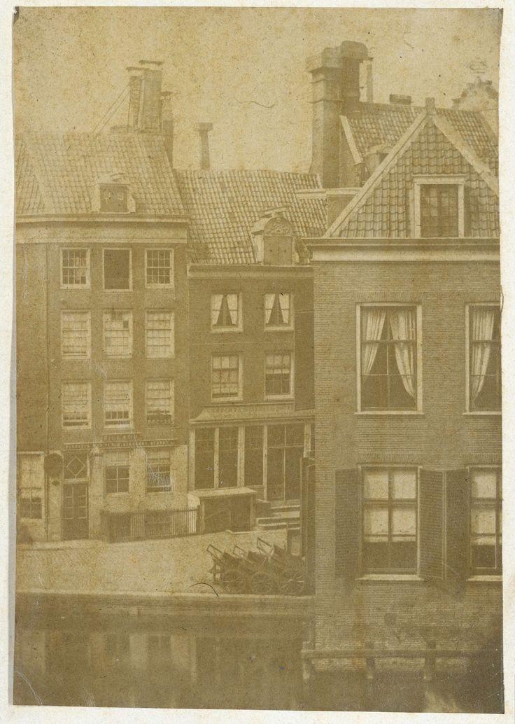 Gezicht op de Munt aan de overzijde van het Singel in Amsterdam, Eduard Isaac Asser, 1854