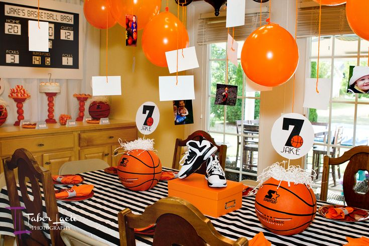 basketball birthday party ideas | Basketball Decorations: There are lots of clever ideas that you will ...
