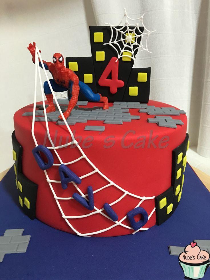 Tarta Fondant Spiderman Hombre Ara 241 A In 2019 Tortas