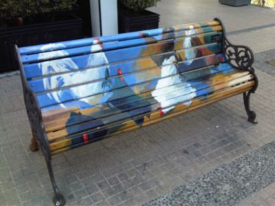 Santiago - As New York used to display cows, and Washington DC elephants and donkeys in their streets; now Santiago has rows of benches with different colorful designs on display in the peatonales.