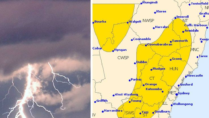 A severe thunderstorm warning has been issued for parts of NSW - The Young Witness #757Live