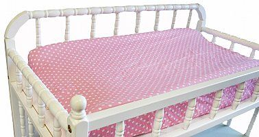 Our median change pad covers accessorise our median My Baby Sam bedding ranges.  They are made in China and are generally in stock and ready for immediate dispatch.