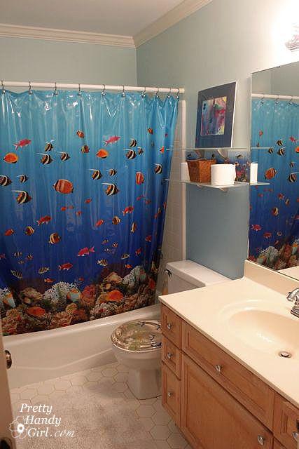 From Fishy to Beachy, the Boys' Bathroom Reveal - Pretty Handy Girl