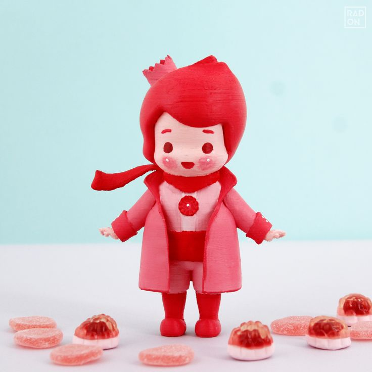 The little Prince falls in love with a strawberry♡ You may have a chance to color this lovely Art Toy with Coloring Kit from RADON. Please contact us through RADON homepage ;)  #Arttoy #3Dprinting #DIY #Coloring #littleprince #RADON #Hobby #Alice #Redhood #cute #color #strawberry #pink #pinky #fallinlove #love #strawberrymilk