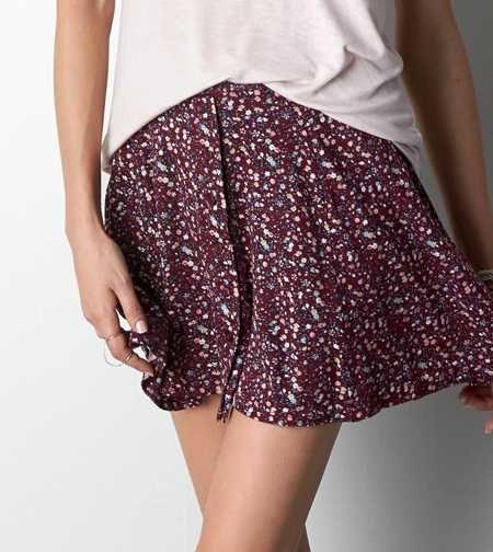 Don't Ask Why Printed Circle Skirt