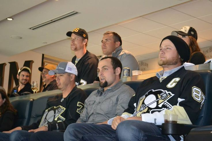 Jordy Mercer, Ahhhh Durrrr, Justin Morneau, Michael McKenry, Tony Sanchez and Gerrit Cole at the Pens game 10-5-13