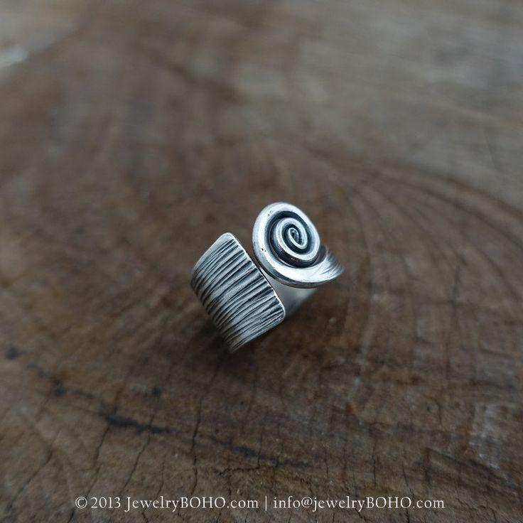 New to jewelryboho4u on Etsy: BOHO 925 Silver Ring-Gypsy Hippie RingBohemian styleStatement Ring R085 JewelryBOHOHandmade sterling silver BOHO Tribal printed ring (33.00 USD)