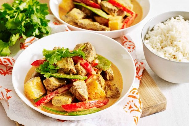 Make your favourite take-away at home with this fragrant Thai red curry beef cooked with fresh pineapple for a sweet twist.