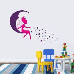 Fairy!  Väggdekor som föreställer en älva sittandes på en måne. De starka färgerna ger rummet ett snyggt lyft! Förutom motivet är även storleken väldigt iögonfallande.  Länk till produkt: http://www.feelhome.se/produkt/fairy/  #Homedecoration #art #interior #design #Walldecor #väggdekor #interiordesign #Vardagsrum #Kontor #Modernt #vägg #inredning #inredningstips #heminredning #måne #barn #barnrum #barninredning