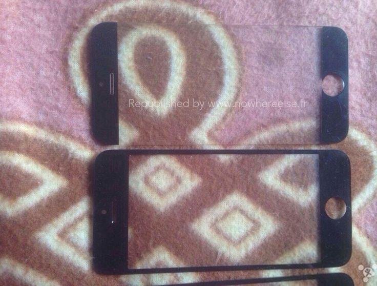 Diverse front-glas versies van de iPhone 6. Mogelijk zijn de beiden niet echt.