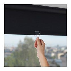 "IKEA - TUPPLUR, Block-out roller blind, 38x76 ¾ "", , The blind is cordless for increased child safety.The room darkening blind has a special coating and does not let any light through.Can be mounted inside or outside the window frame, or in the ceiling.You can cut the right side of the roller blind (up to 8"