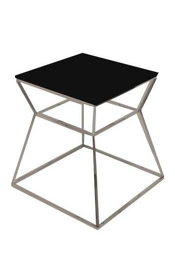 Geo Black Glass Side Table by PANGEA (Hautelook Home)