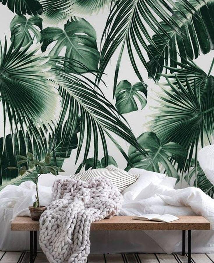 32 Awesome Tropical Bedroom Decor Ideas Perfect For This Summer Parement Mural Fond D Ecran Tropical Peintures Murales De Papier Peint Tropical wallpaper bedroom ideas