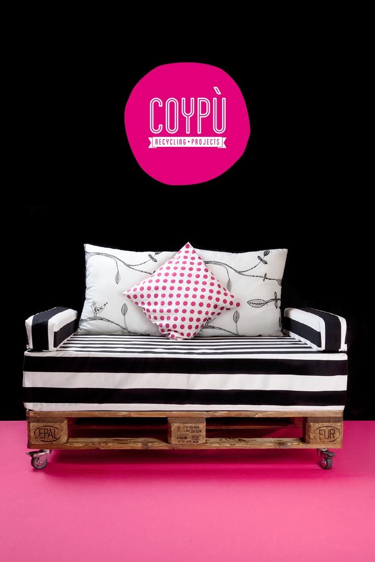 COYPÙ's Pallet Sofa >> Styling: Elsa Cresti / Photographer: Camilla Catrambone (http://www.behance.net/lacatra)
