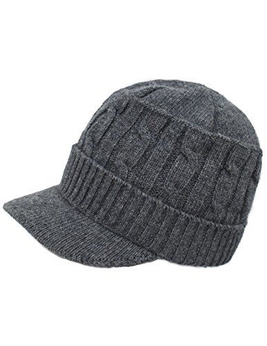 b99800ad1a5 Dahlia Womens Soft Warm Velour Lined Cable Knit Visor Cap Hat Gray -- Read  more at the image link. (This is an affiliate link)
