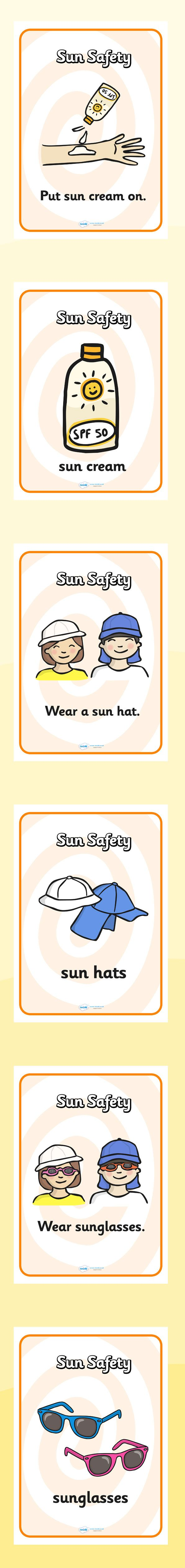 The seaside- Sun safety display posters