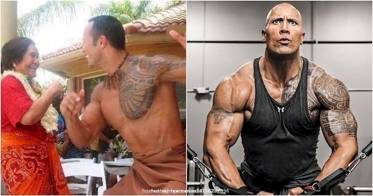 Don't let the muscles fool you, The Rock is o  From Olympicsonline2016