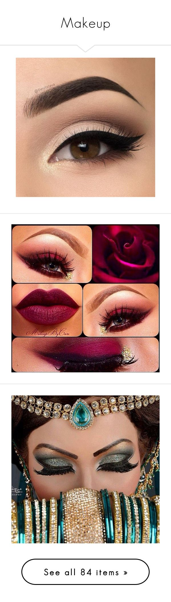 """""""Makeup"""" by pierce-the-falling-sirens ❤ liked on Polyvore featuring beauty products, makeup, eyes, lips, beauty, eye makeup, face makeup, cleopatra, filler and brow makeup"""