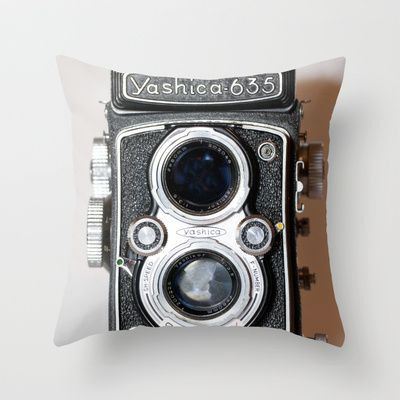 Throw Pillow with Yashica Camera Pic - $20USD. (Also available as art print, stationery, cell skins, totebag, wall clock, etc)