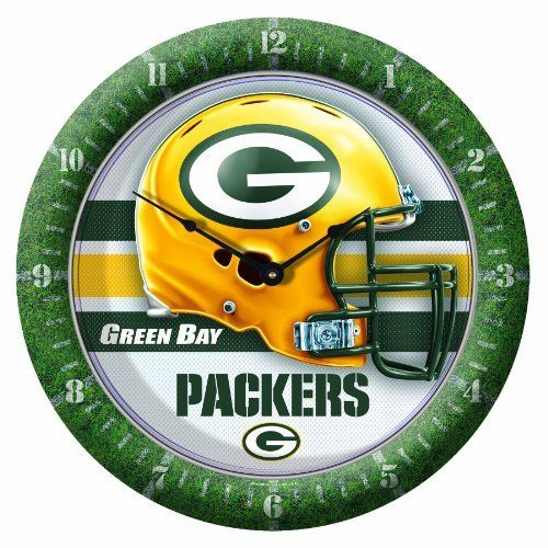 """NFL Green Bay Packers Game Time Clock by WinCraft. Save 20 Off!. $16.01. 10 3/4 Round Wall Clock. Uniquely Crafted with Full Imprinted Border. Plastic lens protects the hands. Center graphic inset 5/8"""" for great depth. Soft rounded clock is perfect every room. Officially licensed wall clock. This unique clock is multilevel with the outside frame printed sport specific with the dial numbers, and the inside sharp graphics inset 5/8"""" for a great dimension.   The clock is finished with a plastic…"""