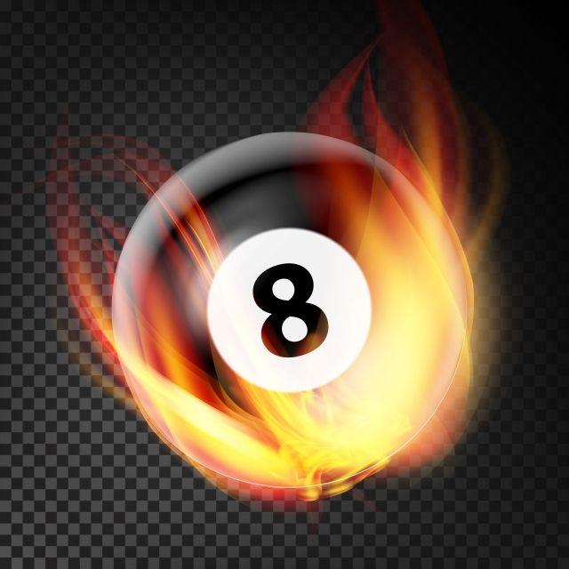 Boule De Billard En Feu Vecteur Realiste Gravure Fond Transparent De Boule De Billard 8 Art Balle Png Et Vecteur Pour Telechargement Gratuit Fire Vector Transparent Background Billiard Balls